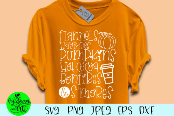 Flannels Hayrides Pumpkins Hot Cocoa Graphic Objects By MidmagArt