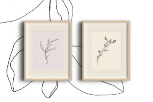 Floral Pencil Drawing One Line Art Graphic By Primafox Design