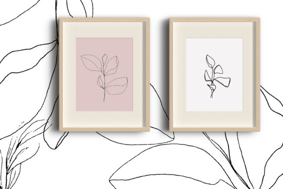 Print on Demand: Floral Pencil Drawing One Line Art Graphic Illustrations By Primafox Design - Image 6