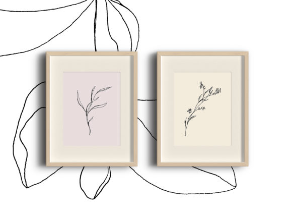 Print on Demand: Floral Pencil Drawing One Line Art Graphic Illustrations By Primafox Design
