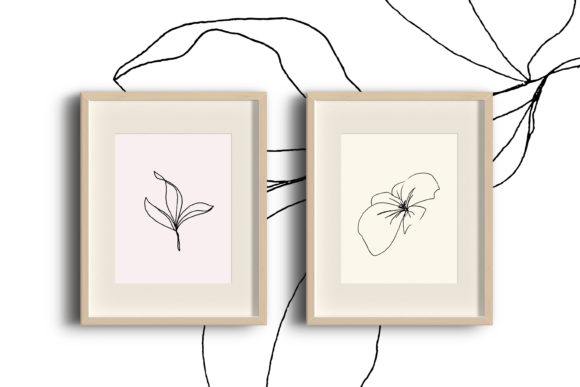 Print on Demand: Floral Pencil Drawing One Line Art Graphic Illustrations By Primafox Design - Image 7