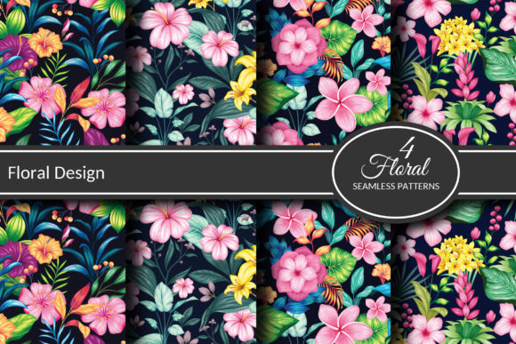 Floral Seamless Collection Graphic Crafts By AllmoStudio