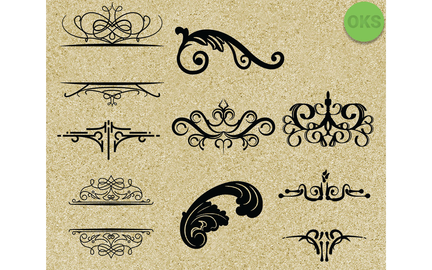 Download Free Flourishes Decorative Border Svg Graphic By Crafteroks for Cricut Explore, Silhouette and other cutting machines.