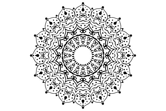Flower Design (mandala Style) Mandalas Craft Cut File By Creative Fabrica Crafts - Image 1