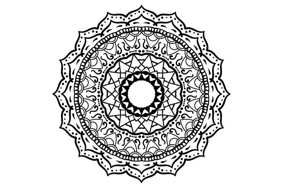 Download Free Flower Design Mandala Style Svg Cut File By Creative Fabrica for Cricut Explore, Silhouette and other cutting machines.