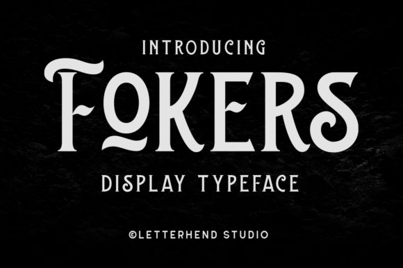 Print on Demand: Fokers Display Font By letterhend