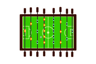 Foosball Table Craft Design By Creative Fabrica Crafts