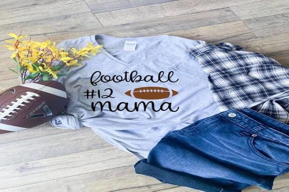 Download Free Football Mama Graphic By Dddesigns Creative Fabrica for Cricut Explore, Silhouette and other cutting machines.
