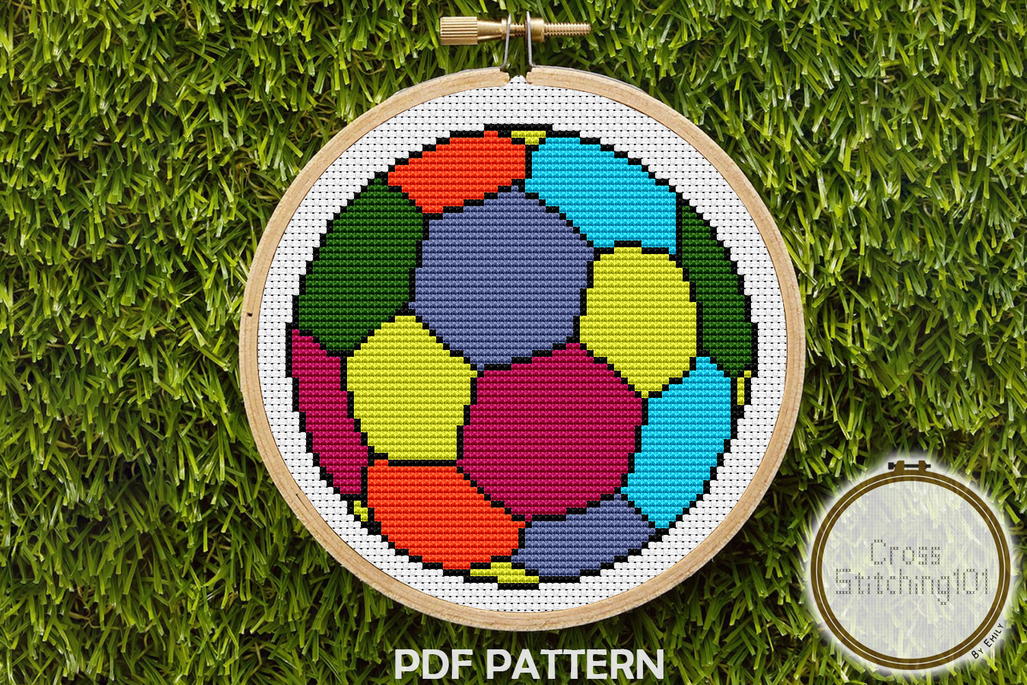 Download Free Football Modern Cross Stitch Pattern Graphic By for Cricut Explore, Silhouette and other cutting machines.