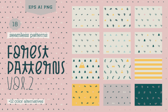 Print on Demand: Forest Patterns Vol.#2 Graphic Patterns By antipixel