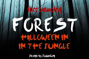 Forest Font By Gens Creatif Store