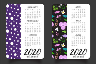 Download Free Four Season Calendar 2020 Graphic By Tamitam Creative Fabrica for Cricut Explore, Silhouette and other cutting machines.