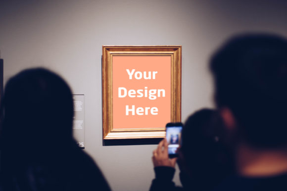 Print on Demand: Frame in Exhibition Graphic Product Mockups By Outflow Designs