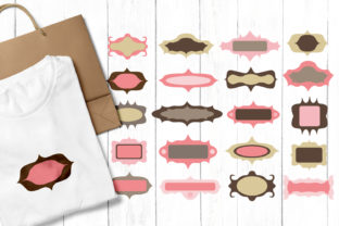 Frames Pink Brown Graphic By Revidevi
