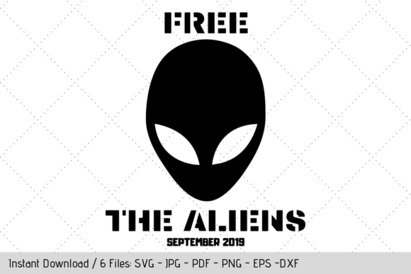 Download Free Free The Aliens Graphic By Werk It Girl Supply Creative Fabrica for Cricut Explore, Silhouette and other cutting machines.