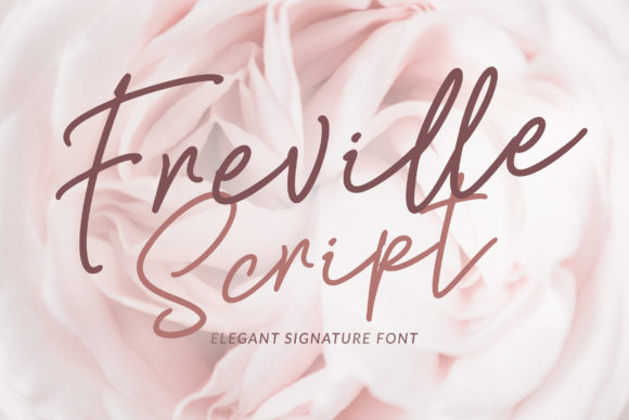 Print on Demand: Freville Script & Handwritten Font By Weape Design