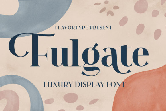 Print on Demand: Fulagte Serif Font By flavortype