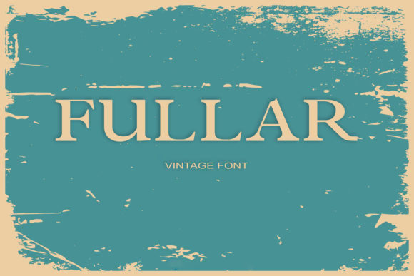Print on Demand: Fullar Serif Font By maxim.90.ivanov