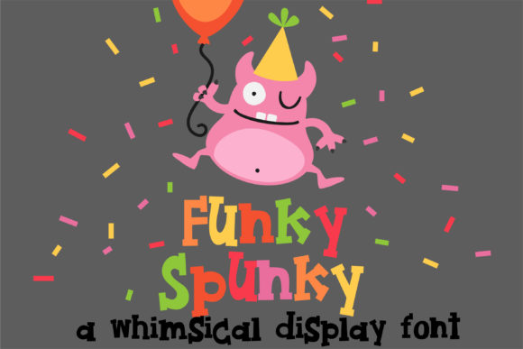 Print on Demand: Funky Spunky Display Font By Illustration Ink