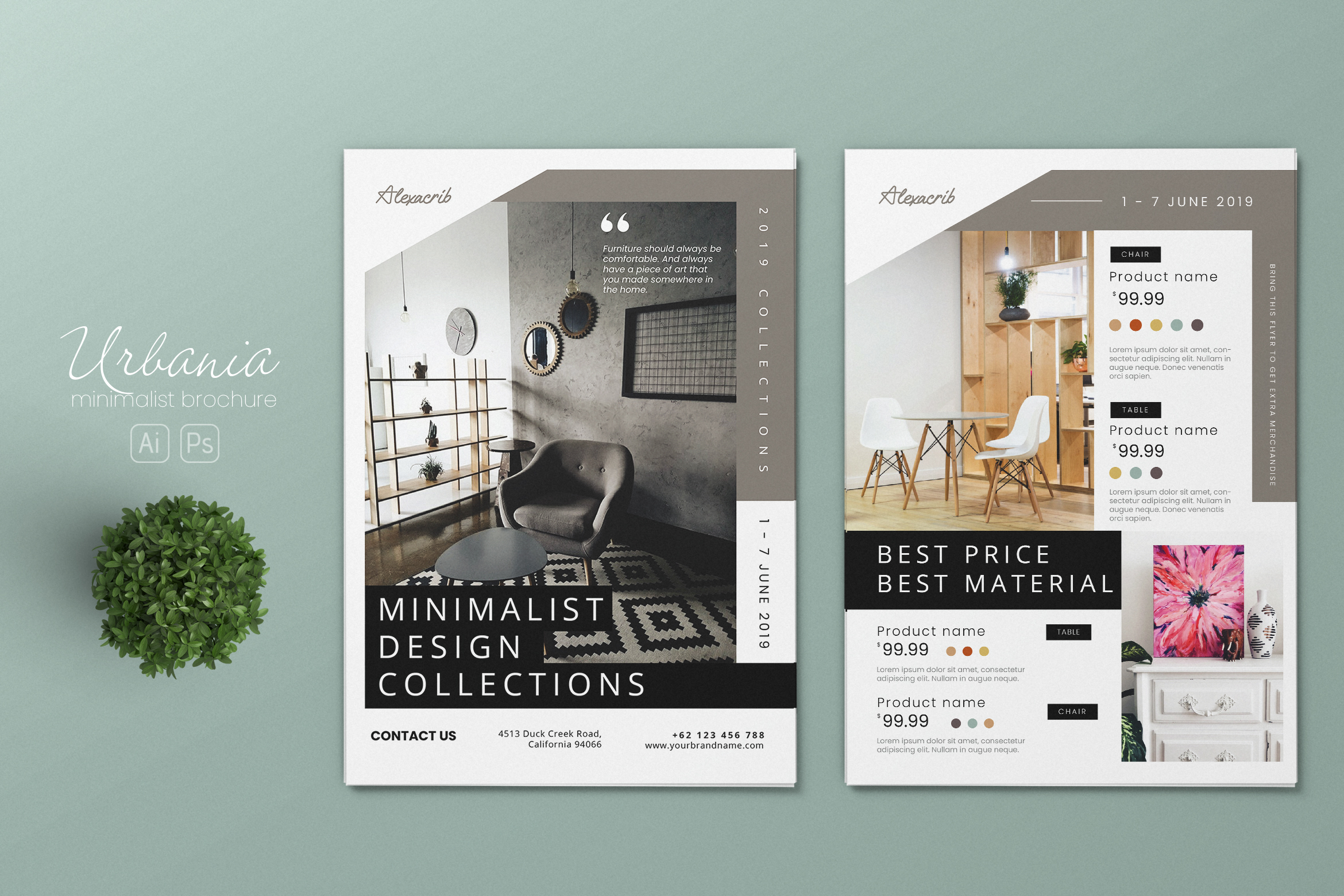 Download Free Furniture Store Ai And Psd Flyer 5 Graphic By Alexacrib83 for Cricut Explore, Silhouette and other cutting machines.