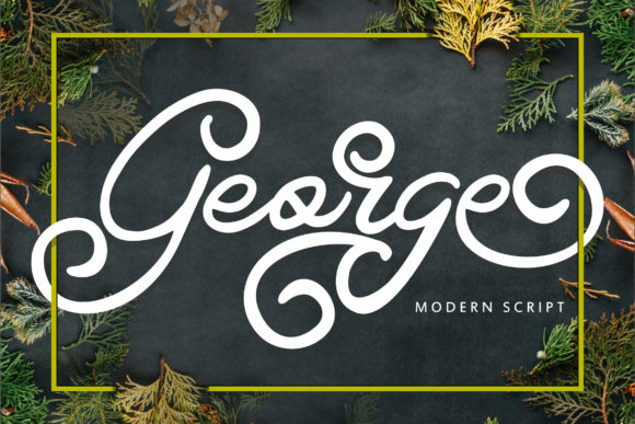 Print on Demand: George Script & Handwritten Font By Vunira