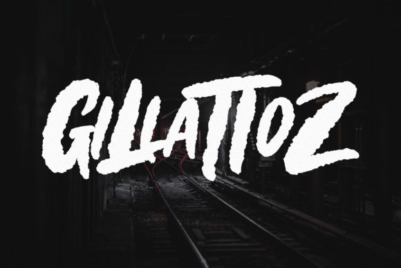 Print on Demand: Gillattoz Blackletter Font By Weape Design