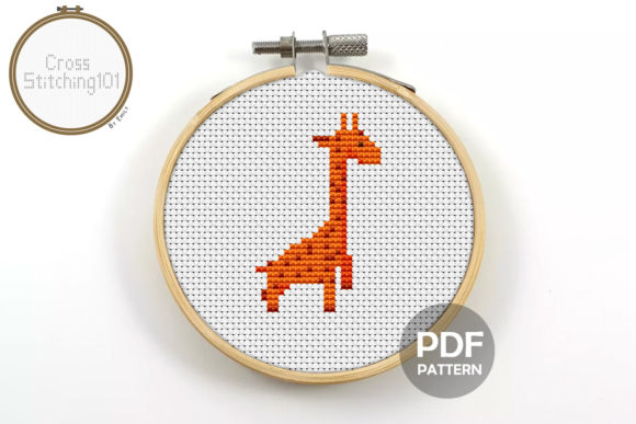 Download Free Giraffe Modern Cross Stitch Pattern Graphic By Crossstitching101 for Cricut Explore, Silhouette and other cutting machines.