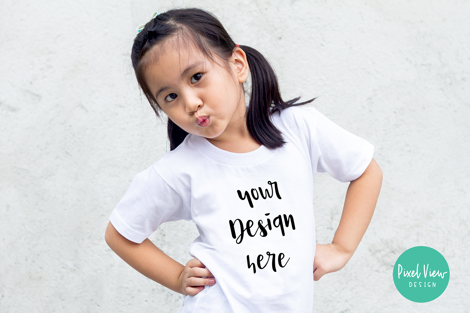 Girl S White T Shirt Mockup Graphic By Pixel View Design