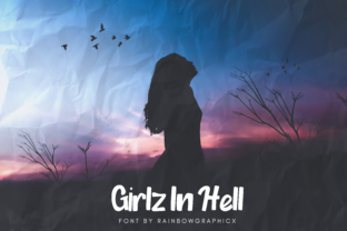 Girlz in Hell Font By RainbowGraphicx