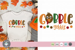 Gobble Gobble Svg, Baby Thanksgiving Svg Graphic By thejaemarie