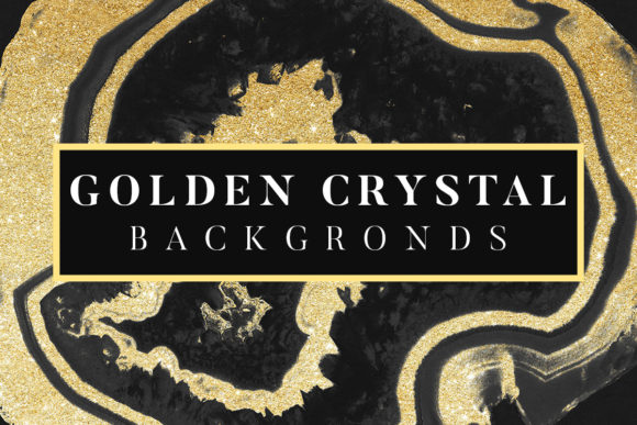 Print on Demand: Golden Crystal Backgrounds Graphic Backgrounds By freezerondigital