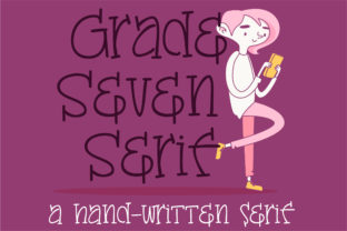 Grade Seven Font By Illustration Ink