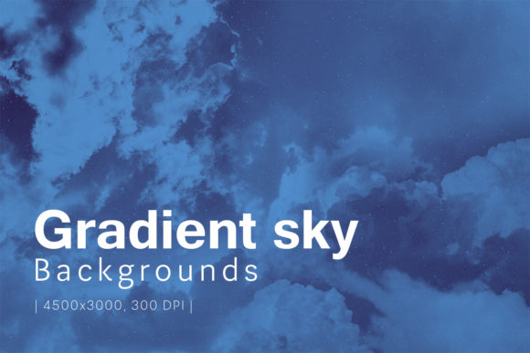 Print on Demand: Gradient Sky Backgrounds Graphic Backgrounds By freezerondigital