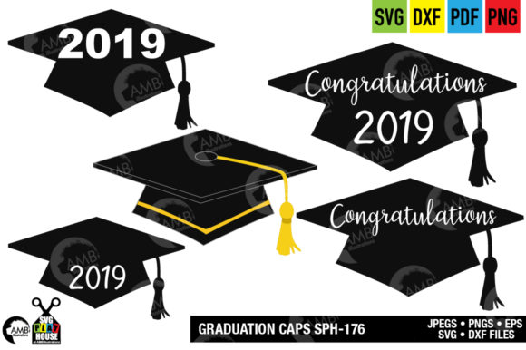 Download Free Graduation Cap Graphic By Ambillustrations Creative Fabrica for Cricut Explore, Silhouette and other cutting machines.