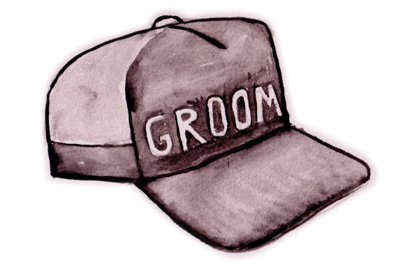 Download Free Groom Hat In Watercolor Svg Cut File By Creative Fabrica Crafts for Cricut Explore, Silhouette and other cutting machines.