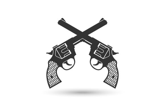 gun or pistol vector graphic by hartgraphic creative fabrica gun or pistol vector
