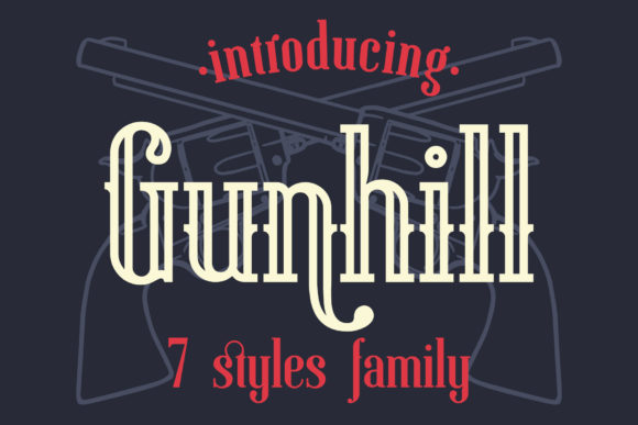 Print on Demand: Gunhill Family Serif Font By NREY - Image 1