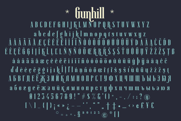 Print on Demand: Gunhill Family Serif Font By NREY - Image 7