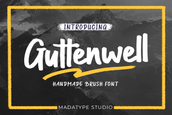 Print on Demand: Guttenwell Script & Handwritten Font By Madatype Studio