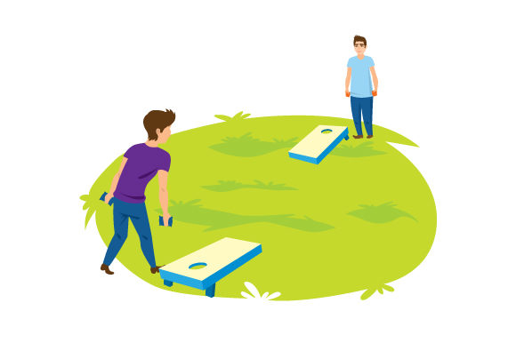 Guys Playing Cornhole Games Craft Cut File By Creative Fabrica Crafts
