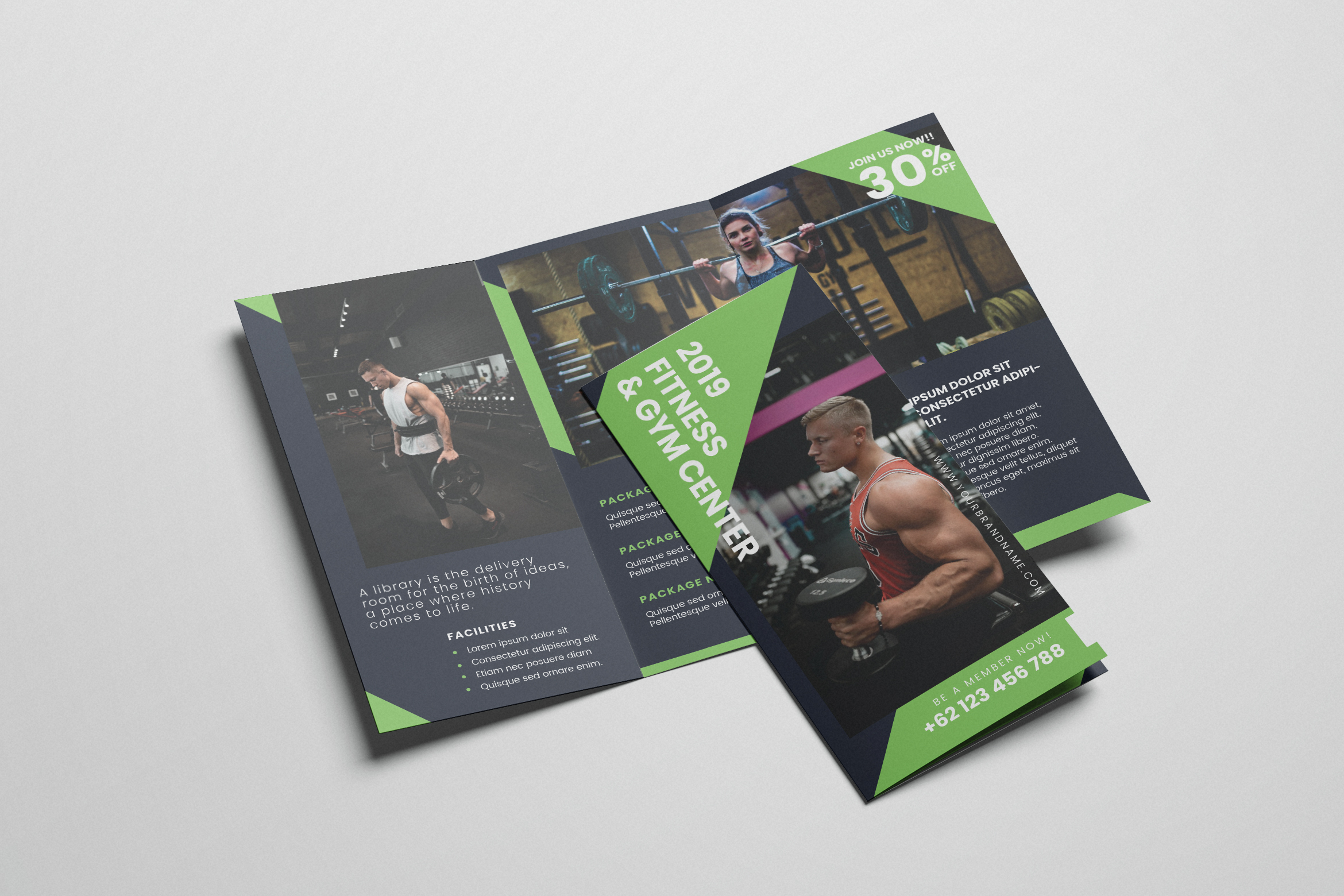 Download Free Gym And Fitness Ai And Psd Brochure Graphic By Alexacrib83 for Cricut Explore, Silhouette and other cutting machines.