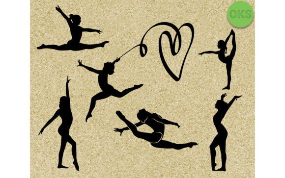 Download Free Gymnastics Silhouette File Bundle Graphic By Crafteroks for Cricut Explore, Silhouette and other cutting machines.
