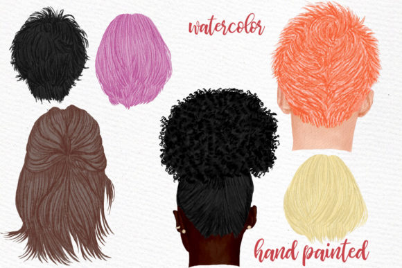 Hairstyles Clipart, Custom Hairstyles Graphic Illustrations By LeCoqDesign - Image 2