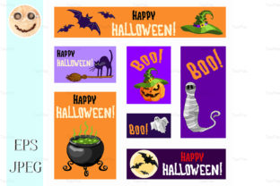 Halloween Banners Set Graphic By TasiPas