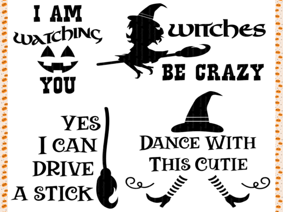 Download Free Halloween Bundle Graphic By Elsielovesdesign Creative Fabrica for Cricut Explore, Silhouette and other cutting machines.