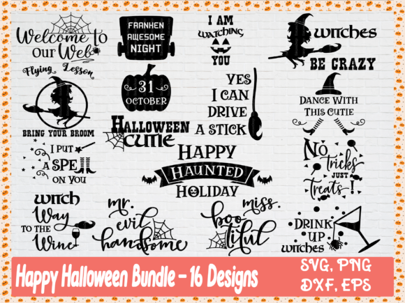 Halloween Bundle Graphic Crafts By ElsieLovesDesign