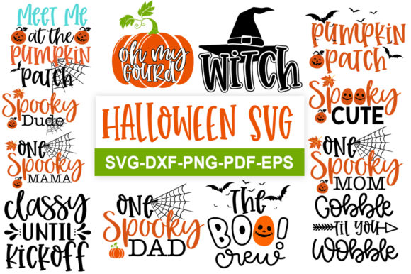 Print on Demand: Halloween Bundle Graphic Print Templates By svgbundle.net