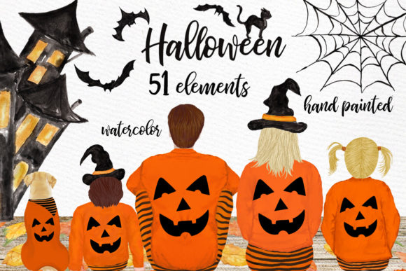 Halloween Clipart Graphic Illustrations By LeCoqDesign