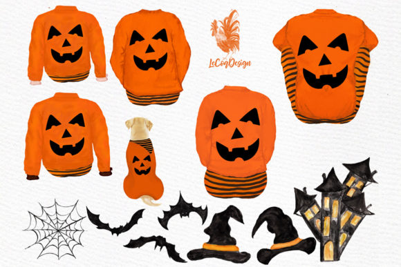 Download Free Halloween Clipart Graphic By Lecoqdesign Creative Fabrica for Cricut Explore, Silhouette and other cutting machines.