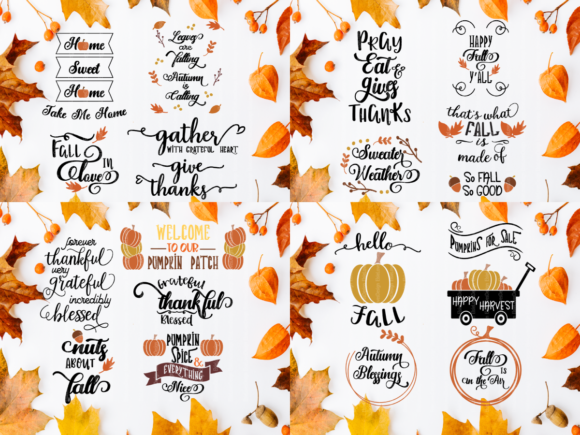 Halloween & Fall Thanksgiving SVG Bundle Graphic Crafts By ElsieLovesDesign - Image 3